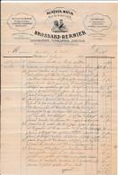 Facture Illustrée Coq  De CHARTRES Au Réveil Matin Rue Du Grand Cerf BROSSARD BERNIER Chaudronnier Ferblantier En 1881 - 1800 – 1899