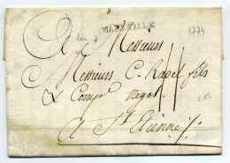MP MARSEILLE Lenain N°7  / 16 Juillet 1774 / Taxe 11 Sols Manuscrite - 1701-1800: Precursores XVIII