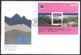 New Zealand #906a S/sheet F-VF Unaddressed Cacheted FDC - Landscapes (1988) - FDC