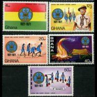 GHANA 1971 - Scott# 421-5 Girl Guides Set Of 5 MNH - Ghana (1957-...)