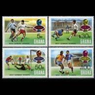 GHANA 1974 - Scott# 535-8 Soccer Winner Set Of 4 MNH - Ghana (1957-...)