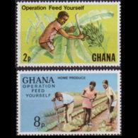 GHANA 1978 - Scott# 645-6 Feed Yourself 8-30p MNH - Ghana (1957-...)