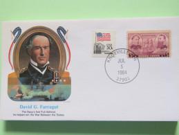 USA 1984 Special Cover - War Heroes - David Farragut - Ships - Stati Uniti