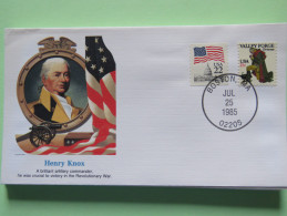 USA 1985 Special Cover - War Heroes - Henry Knox - Flag - Cannon Valley Forge - Etats-Unis