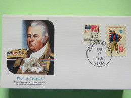 USA 1986 Special Cover - War Heroes - Thomas Truxtun - Ships - Marines Uniforms - Lettres & Documents