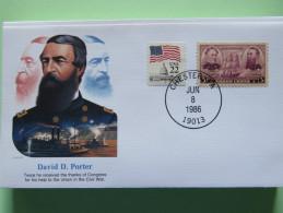 USA 1986 Special Cover - War Heroes - David Porter - Ships - Etats-Unis