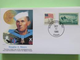 USA 1986 Special Cover - War Heroes - Douglas Munro - Marines - Coast Guard - Etats-Unis
