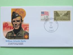 USA 1986 Special Cover - War Heroes - William Orlando Darby - Paris Arc De Triomphe - United States