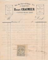 Facture De CHARTRES Rue Du Cheval Blanc Casseur De Bois CHAUMIER En 1880 - France