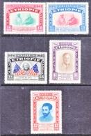 ETHIOPIA  278-80, C 21-22    *  AMERICAN  BICENTENNAIL  FLAGS  ROOSEVELT - Ethiopia