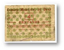 OVAR - Cédula  4 Centavos - Escassa - Série A - M.A. 1637 - Portugal - EMERGENCY PAPER MONEY - NOTGELD - Portugal
