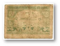 OVAR - Cédula  2 Centavos - 1921 - Série D - M.A. 1642a - Portugal - EMERGENCY PAPER MONEY - NOTGELD - Portugal