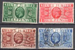 Great Britain 1935 King George V Silver Jubilee - Mi. 189-92 - Used - 1902-1951 (Reyes)