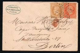 5687 - Alter Brief Beleg - Ancien Document De Lettre - 1868 - Paris à Berlin - 1863-1870 Napoléon III. Laure