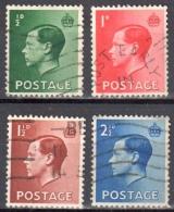 Great Britain 1936 King Edward VIII - Mi. 193-196 - Used - Usados