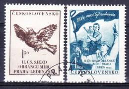 Tchécoslovaquie 1953 Mi 776-7 (Yv 682-3), Obliteré - Used Stamps