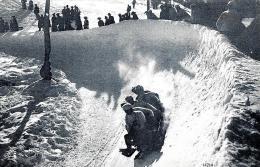 [DC3154] CPA - ST.MORITZ - CARTOLINA PAESAGISTICA SPORTIVA- BOB SLITTA SUL GHIACCIO - Viaggiata 1911 - Old Postcard - Wintersport