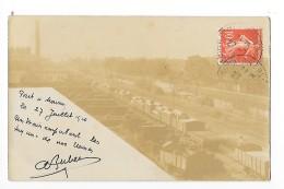 PONT A MOUSSON  (carte Photo 54) Un Train Empruntant Les Voies De L'usine     - L 1 - Pont A Mousson