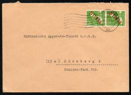 3013 - Alter Brief Beleg - Berlin 1949 Nach Nürnberg - Paarmarke - [5] Berlin