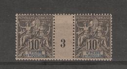 Saint -Pierre & Miquelon _ Millésimes - ( 1893 )10 C Groupe - N°64 _ Neuf - St.Pierre & Miquelon