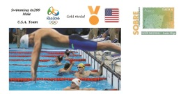 Spain 2016 - Olympic Games Rio 2016 - Gold Medal Swimming 4x200. Male USA Cover - Juegos Olímpicos
