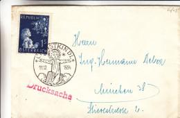 Noël - Sapin - Christkindl - Autriche - Lettre De 1954 -imprimé - Oblitération Christkindl - Valeur 43 Euros En ..2008 ! - 1945-60 Covers