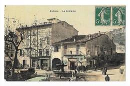ANDUZE  (cpa 30)  La Fontaine  - Animation -        - L 1 - Anduze