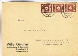 Allemagne - Occ Alliés - Zone Soviétique - Lettre De 1946 - Oblitération Dresden - Zone Soviétique