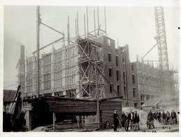 MERKSEM - FOTOKAART 12/01/1929 - BELGISCHE BORENBOND : Bouw Van Een Nieuwe Oliemolen - Belgique
