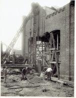 MERKSEM - FOTOKAART 17/06/1929 - BELGISCHE BORENBOND : Bouw Van Een Nieuwe Oliemolen - België