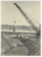 MOL - FOTOKAART Juni 1945 (23 X 17.5 Cm) - Extractie Van Lignite - Kraan Op Het Werk - Grue Au Travail - Mol