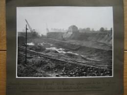LANAKEN - FOTOKAART (23 X 17 Cm) Du 09/11/1933 - Bouw Van De Sluis Van LANAKEN - Uitdieping Van Het Albertkanaal - Lanaken