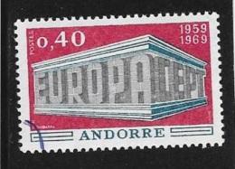 N°  206   EUROPA   ANDORRE -  1969