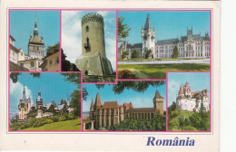 Romania Sighisoara Targoviste Iasi Sinaia Hunedoara Bran Multi View Postcard - Roumanie