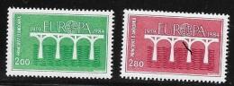 N°  342 / 343     EUROPA   ANDORRE FRANCAIS -  NEUF  PONT DE LA COOPERATION EUROPEENNE  1984 - French Andorra
