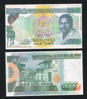 °°° NAMAAK  BANKBILJET TANZANIA Voorkant PERU  Achterkant - [ 8] Fakes & Specimens