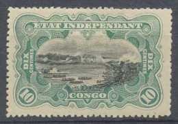 Congo Belge 1894, N° 18, 10c Bleu-vert?, Mols, Gomme Originale - 1894-1923 Mols: Nuovi