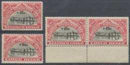 Congo Belge 1925, N° 132/33 + 132A, **/mnh - 1923-44: Nuovi