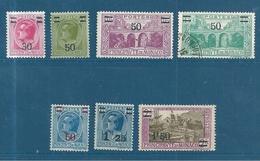 Monaco Timbres De 1926/31  N°104 A 110  Neuf **  N°107 Oblitéré - Ungebraucht