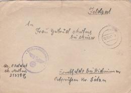 Feldpost WW2: Reserve-Grenadier-Bataillon 479 (2. Kompanie) FP 37379C (should Be In Ukraine) And Cachet From Feldkommand - Militaria