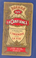 """ASSURANCE - """"LA CONFIANCE"""" - PETIT CALENDRIER - AGENDA - 1907. (7 X 13 Cm). - Petit Format : 1901-20"""
