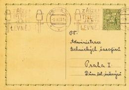 K8690 - Czechoslovakia (1933) Praha 14: Acquisitions Of Phone Is Now Cheaper (postcard) Tariff: 0,50 Kc - Czechoslovakia