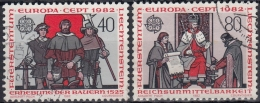 Liechtenstein 1982 Nº 732/33 Usado - Liechtenstein