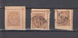 Deutsches Reich 3 Ganzsachen 1/2 Gr. Deutsche Reichspost - Ungebraucht/gestempelt - Allemagne