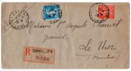 Semeuse 25c + 80c Sur Lettre Recommandée De 1926 - 1921-1960: Modern Period