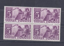 0197 Lote8 SAHARA 86 SIN CHARNELA BLOQUE DE CUATRO - Sahara Español