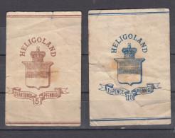 AD Helgoland 2 Große Streifbänder  5 Und 10 Pf.  - Ungebraucht