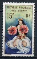 POLYNESIE -  PA  Yv. N° 7   (o)  15f   Danseuse Cote  2 Euro  BE - Poste Aérienne