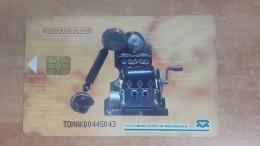 Mozambique-(mzb-11)-old Telephone1-(50.000mt)+3card Prepiad Free - Mozambique