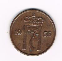 °°°  NOORWEGEN  5 ORE 1955 - Norvège